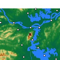 Nearby Forecast Locations - Lushan - Map