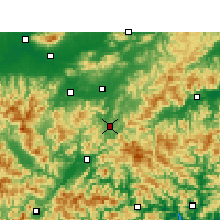 Nearby Forecast Locations - Jinyun - Map
