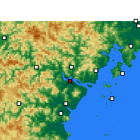 Nearby Forecast Locations - Wenzhou - Map