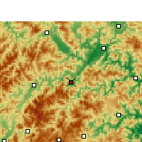 Nearby Forecast Locations - Yunhe - Map