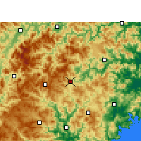 Nearby Forecast Locations - Taishun - Map