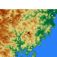 Nearby Forecast Locations - Zherong - Map
