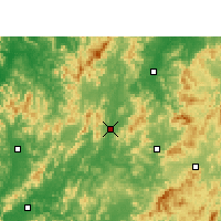 Nearby Forecast Locations - Ningdu - Map
