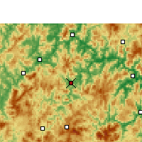Nearby Forecast Locations - Youxi - Map