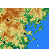Nearby Forecast Locations - Ningde - Map