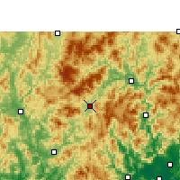 Nearby Forecast Locations - Longyan - Map