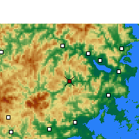 Nearby Forecast Locations - Yongtai - Map