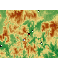 Nearby Forecast Locations - Liannan - Map