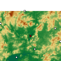 Nearby Forecast Locations - Yingde - Map