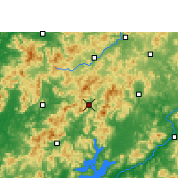 Nearby Forecast Locations - Lianping - Map