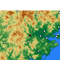 Nearby Forecast Locations - Nanjing/FUJ - Map