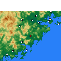 Nearby Forecast Locations - Zhangpu - Map