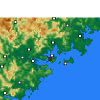 Nearby Forecast Locations - Xiamen - Map