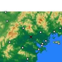 Nearby Forecast Locations - Jieyang - Map