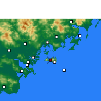 Nearby Forecast Locations - Nan'ao - Map