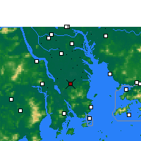 Nearby Forecast Locations - Zhongshan/GUD - Map