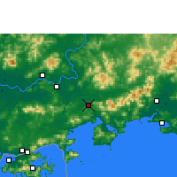 Nearby Forecast Locations - Huidong/GUD - Map
