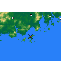 Nearby Forecast Locations - Shangchuan. - Map