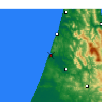 Nearby Forecast Locations - Larache - Map