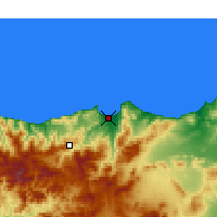 Nearby Forecast Locations - Al Hoceima - Map