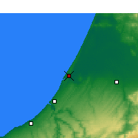 Nearby Forecast Locations - Kenitra - Map