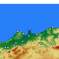 Nearby Forecast Locations - Bordj-El-Bahri - Map
