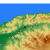 Nearby Forecast Locations - Chlef - Map