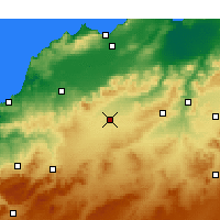Nearby Forecast Locations - Sidi Bel Abbès - Map