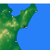 Nearby Forecast Locations - Nabeul - Map