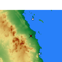 Nearby Forecast Locations - Hurghada - Map