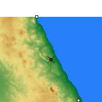 Nearby Forecast Locations - El Qoseir - Map