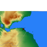 Nearby Forecast Locations - Djibouti - Map