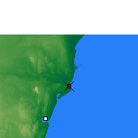 Nearby Forecast Locations - Malindi - Map
