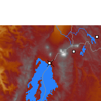 Nearby Forecast Locations - Gisenyi - Map