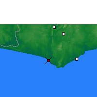 Nearby Forecast Locations - Axim - Map