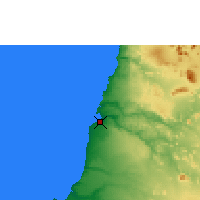 Nearby Forecast Locations - Namibe - Map