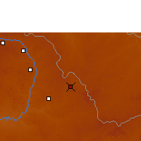 Nearby Forecast Locations - Ndola - Map