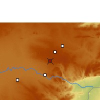 Nearby Forecast Locations - Mount Makulu - Map