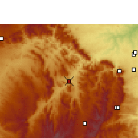 Nearby Forecast Locations - Tswelopele - Map