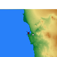 Nearby Forecast Locations - Lüderitz - Map