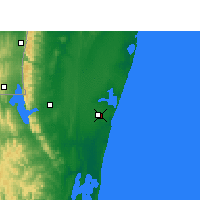 Nearby Forecast Locations - Mbazwana - Map