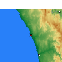 Nearby Forecast Locations - Port Nolloth - Map