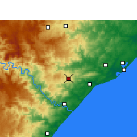 Nearby Forecast Locations - Eshowe - Map