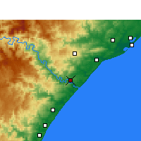 Nearby Forecast Locations - Mandeni - Map