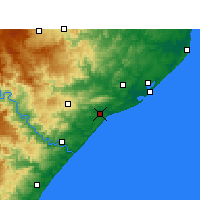 Nearby Forecast Locations - Mtunzini - Map