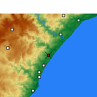Nearby Forecast Locations - Shakaskraal - Map