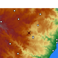 Nearby Forecast Locations - Cedara - Map