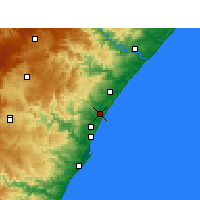 Nearby Forecast Locations - Tongaat - Map