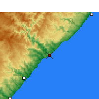 Nearby Forecast Locations - Port St. Johns - Map