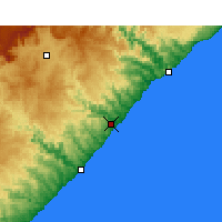 Nearby Forecast Locations - Coffee Bay - Map